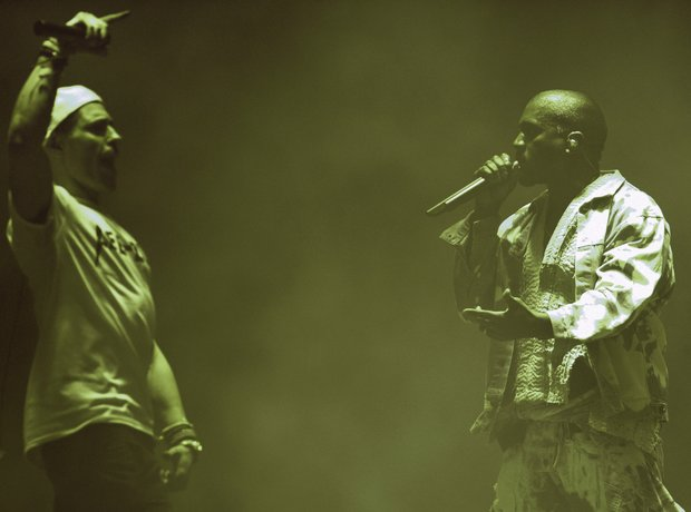 Kanye West Invader Glastonbury 2015