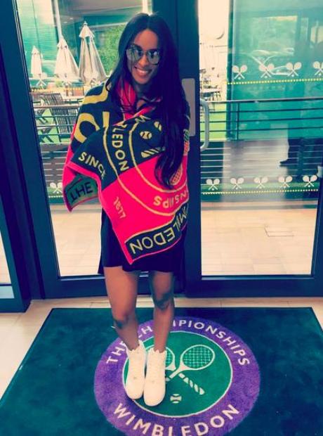 Ciara at Wimbledon