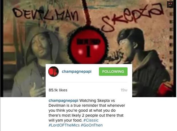 drake skepta instagram