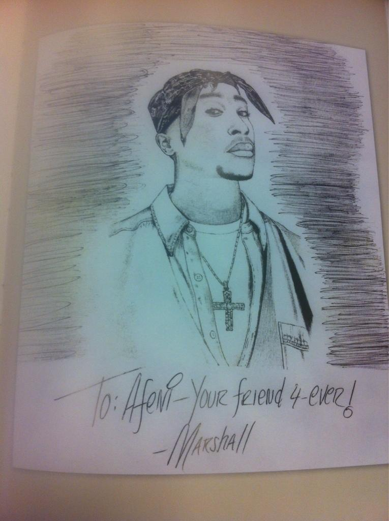 Tupac sketch by Eminem