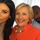 Image 2: Kim Kardashian Kanye West Hilary Clinton selfie
