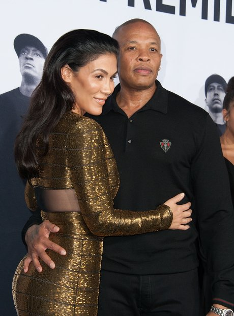 Dr Dre and wife Straight Outta Compton Premiere