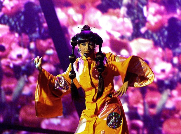 Left Eye performing on stage
