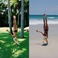 Image 2: Pia Mia doing a Handstand Holiday