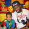 Image 10: 50 Cent and son at birthday party
