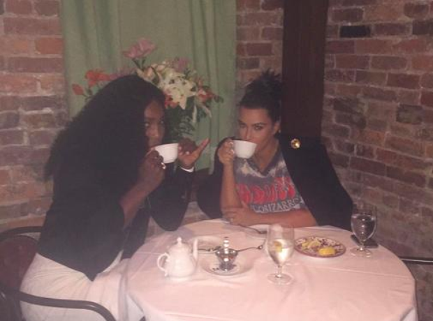 Serena Williams and Kim Kardashian