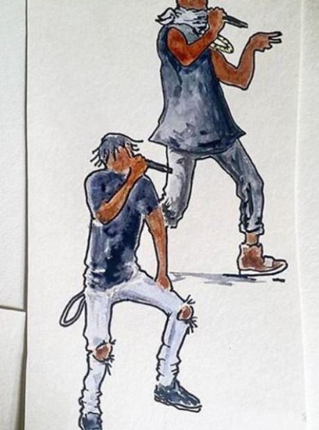 Travis Scott Kanye West