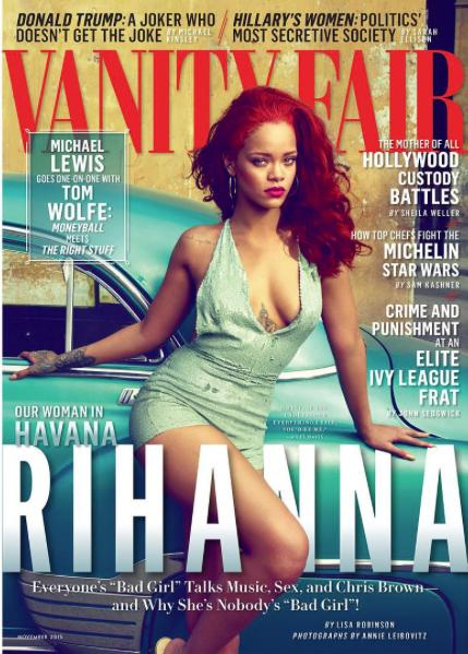 Rihanna on the cover of Vanity Fair