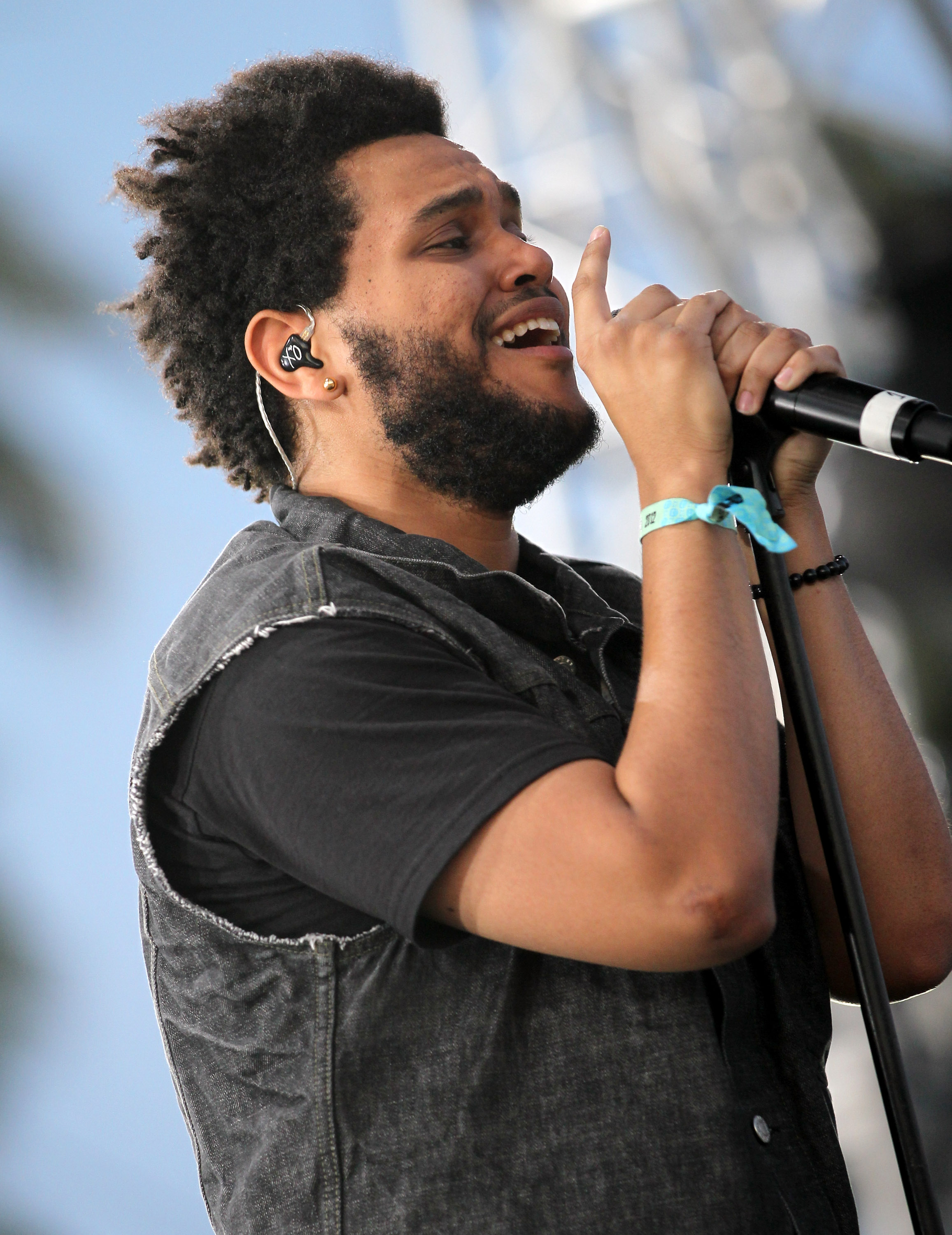 The Weeknd on stage