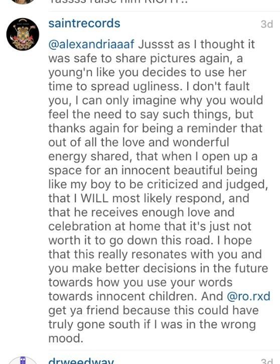 Solange Instagram reply