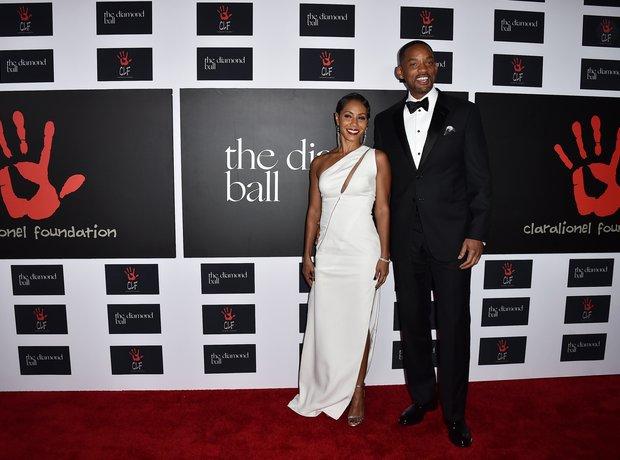 Will and Jada Smitb Rihanna Diamond Ball