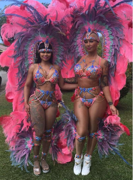 Blac Chyna and Amber Rose wear lavish outfits at T