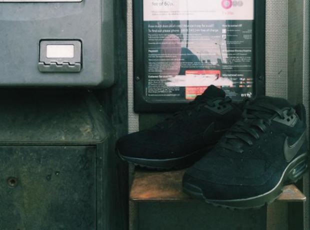Skepta Blacklisted Nike Airmax in phonebooth