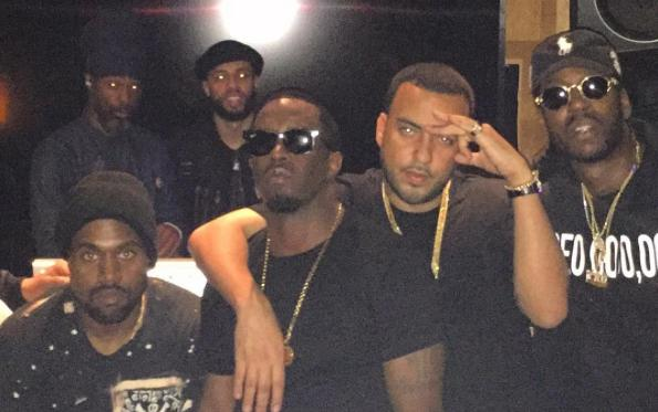 French Montana stood with Puff Daddy Kanye Wes