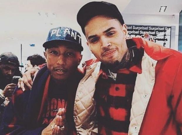Pharrell Williams and Chris Brown