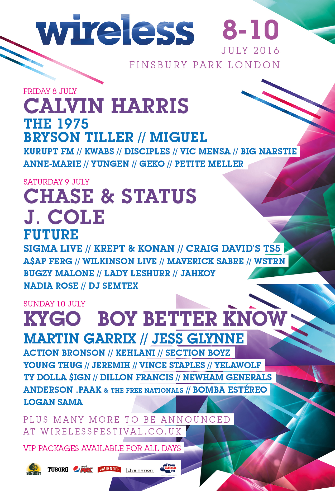Wireless Festival Lineup 2016