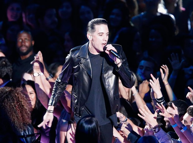 G Eazy performing on stage
