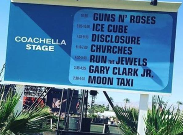 Disclosure Coachella sign