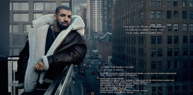 Drake Views Digital Booklet Page