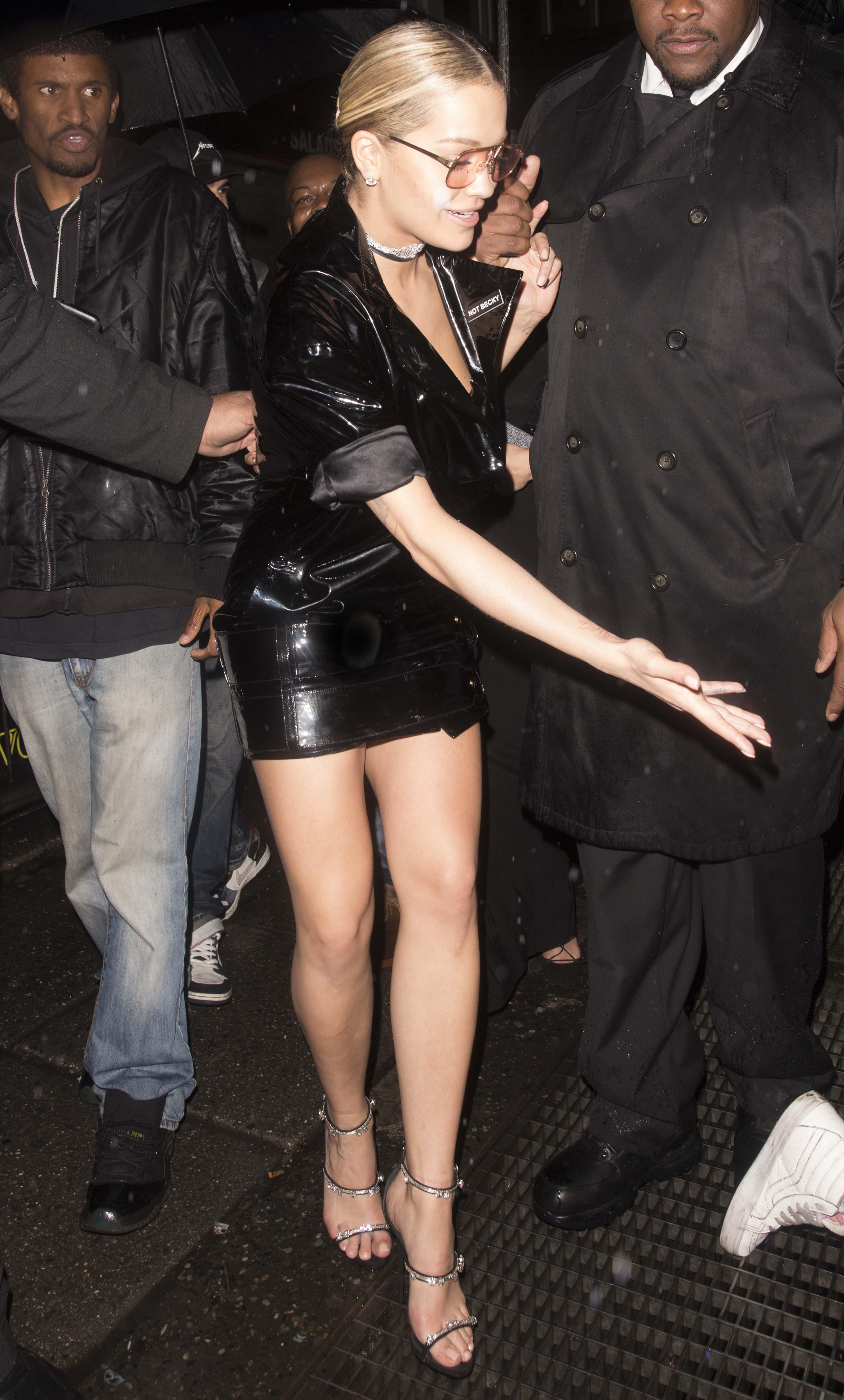 Rita Ora wears 'Not Becky' badge after Met Gala