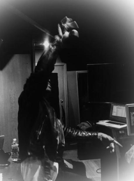 Vic Mensa in studio with Gorillaz