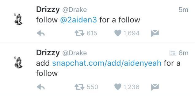 Drake Twitter Hacking