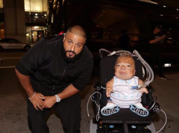Dj Khaled with disabled fan