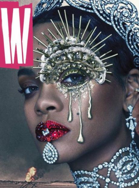 Rihanna covering W Magazine
