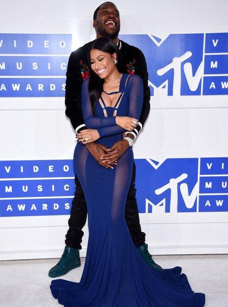 Nicki Minaj, Meek Mill MTV VMAs Red Carpet 2016