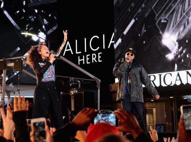 Alicia Keys and Jay Z