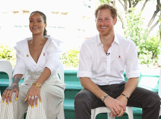 Rihanna with Prince Harry in Barbados