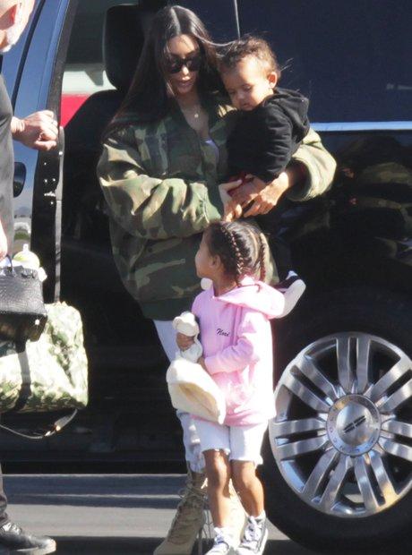 Kim Kardashian jets to Costa Rica with the kids