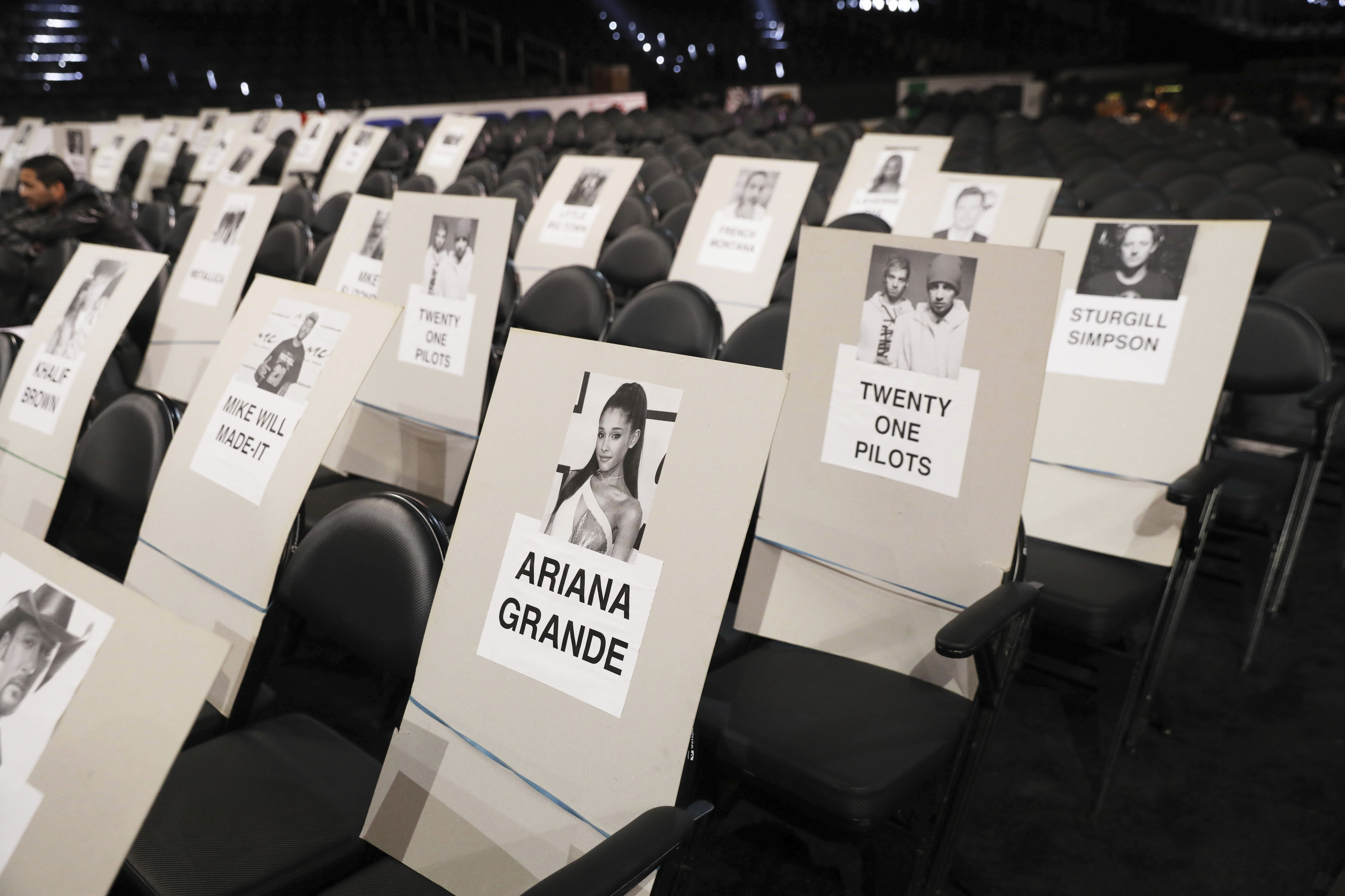Grammy's 2017 seating plan
