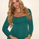 Image 6: Beyonce looking divine in green with baby bump