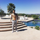 Image 6: Chris Brown beside his pool