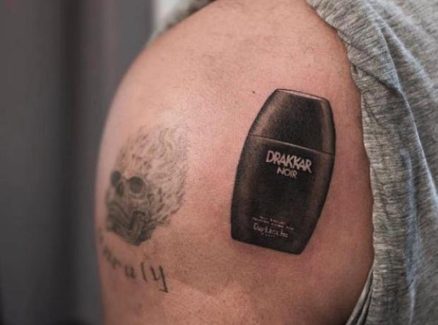 Drake Drakkar Noir tattoo