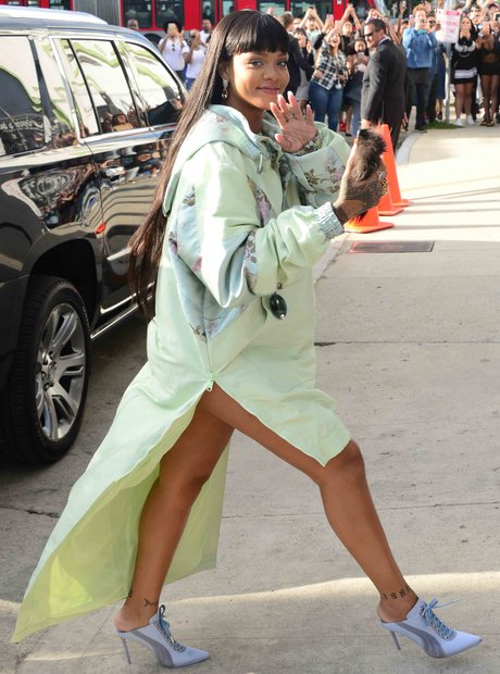 Rihanna turns up at her Fenty event