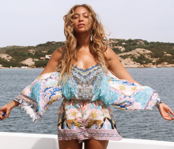 Beyonce in a playsuit