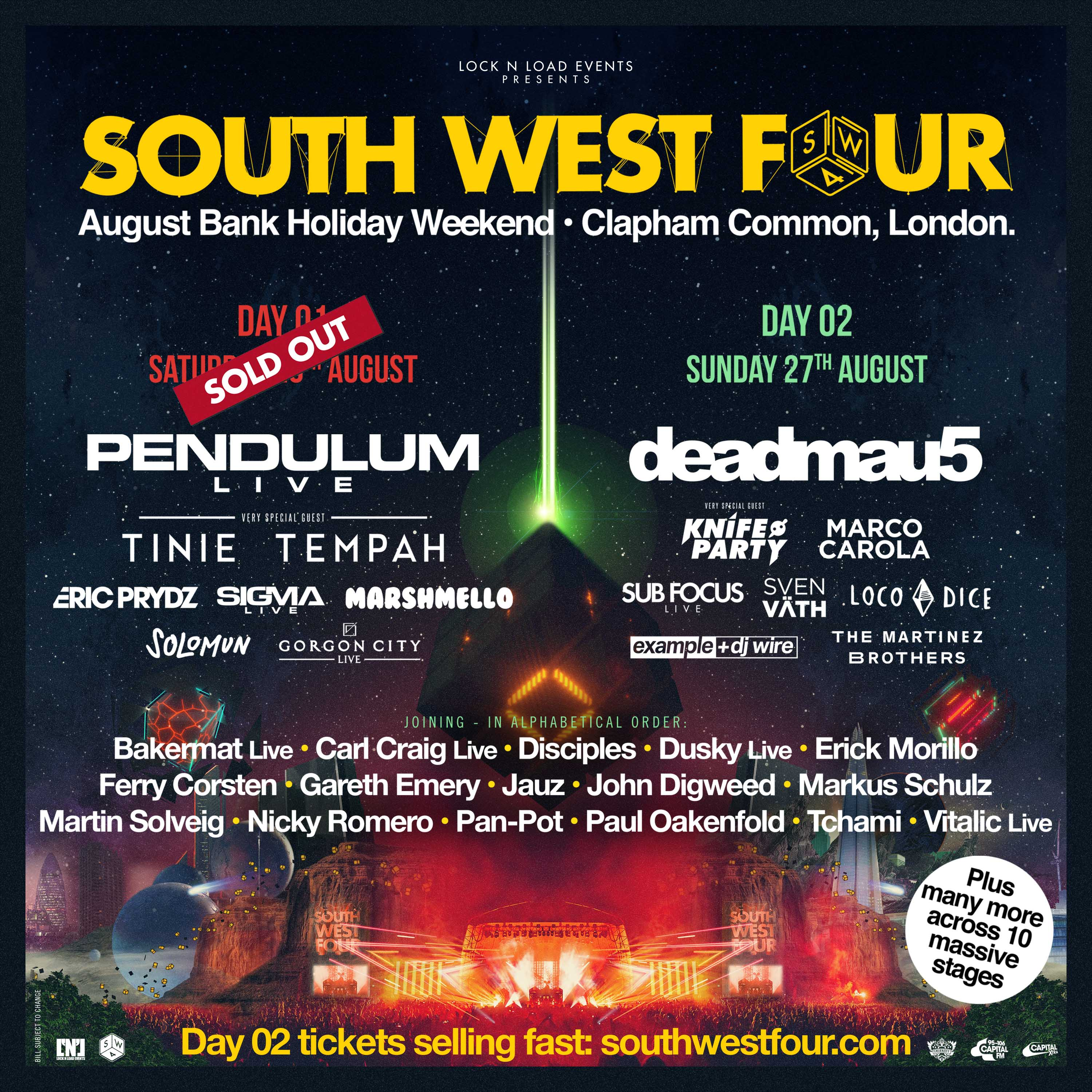 South West Four sold out day one