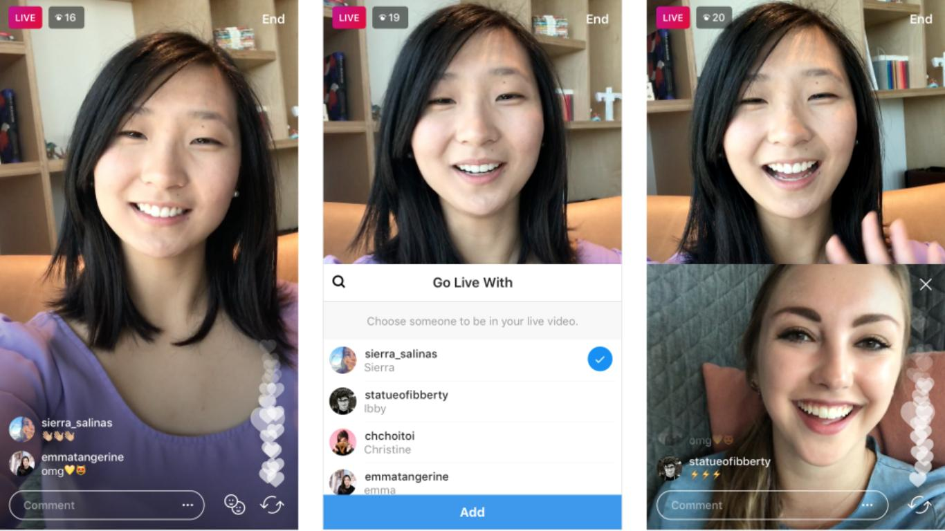 Instagram New Live Video Examples