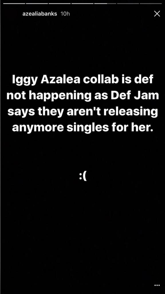Azealia Banks Instagram story