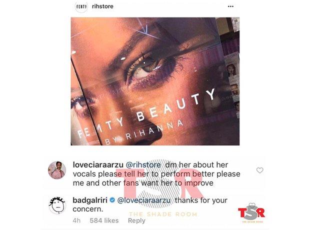 Rihanna Throwing Shade At Fan