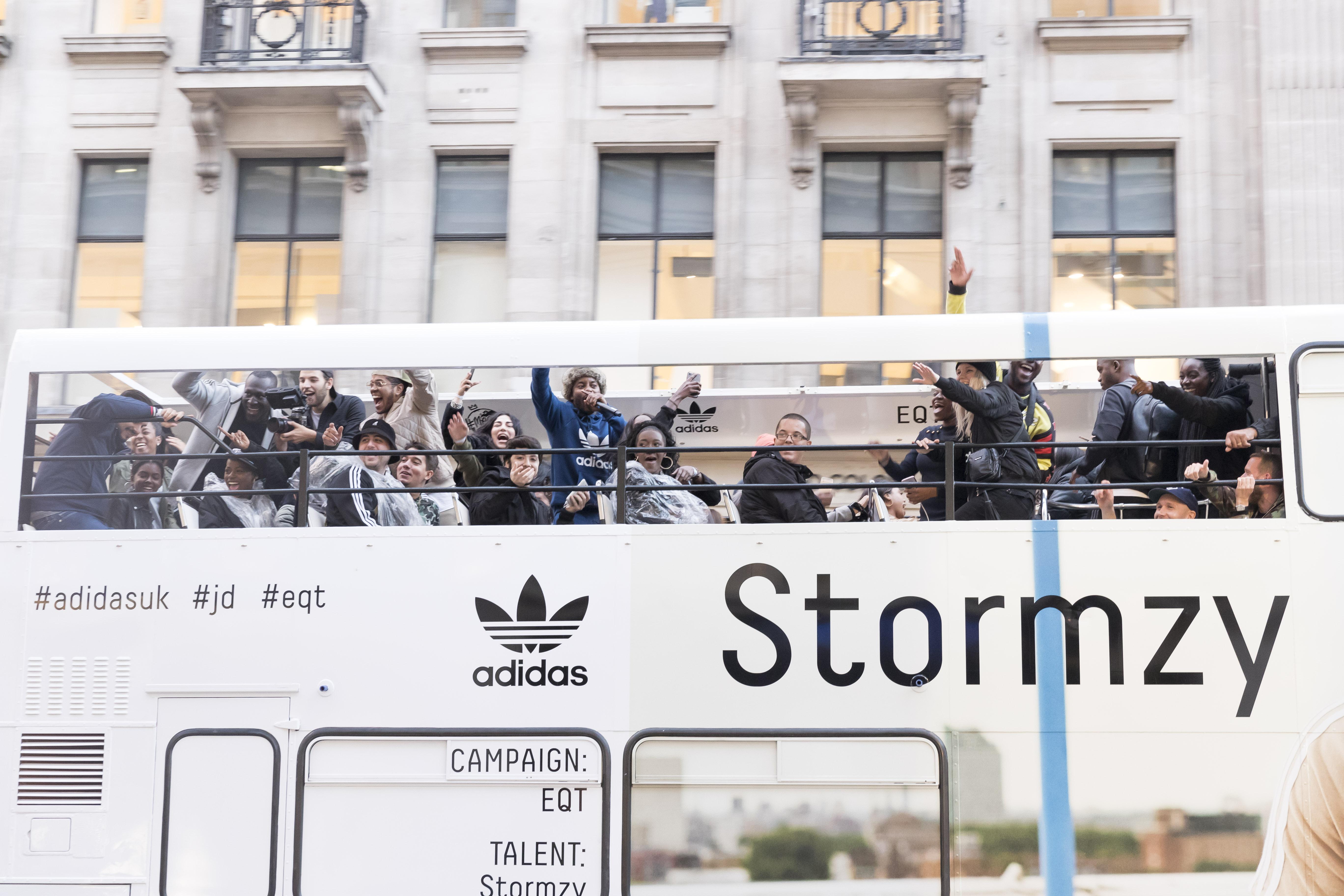 Stormzy shuts down London on double decker bus