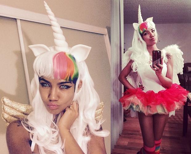Jhene Aiko as a unicorn