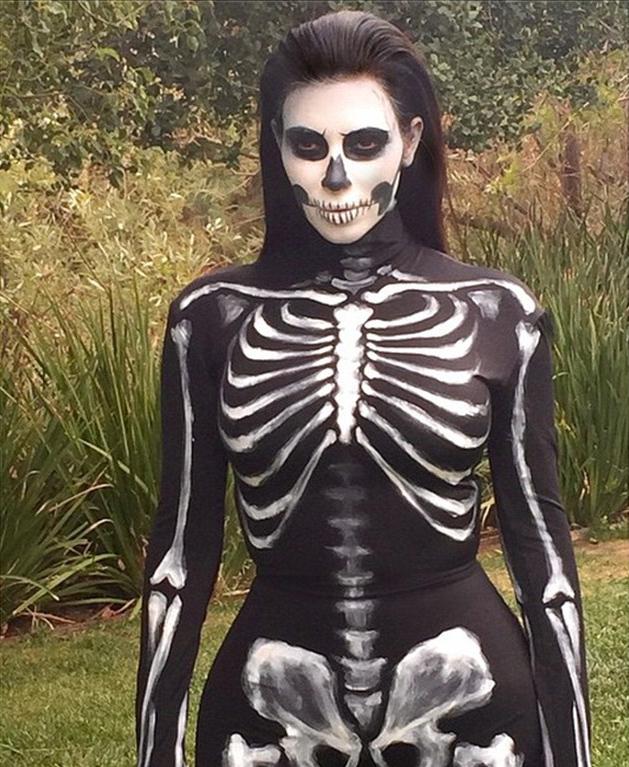 Kim Kardashian as a skeleton