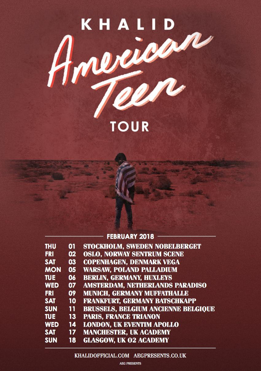Khalid 2018 tour