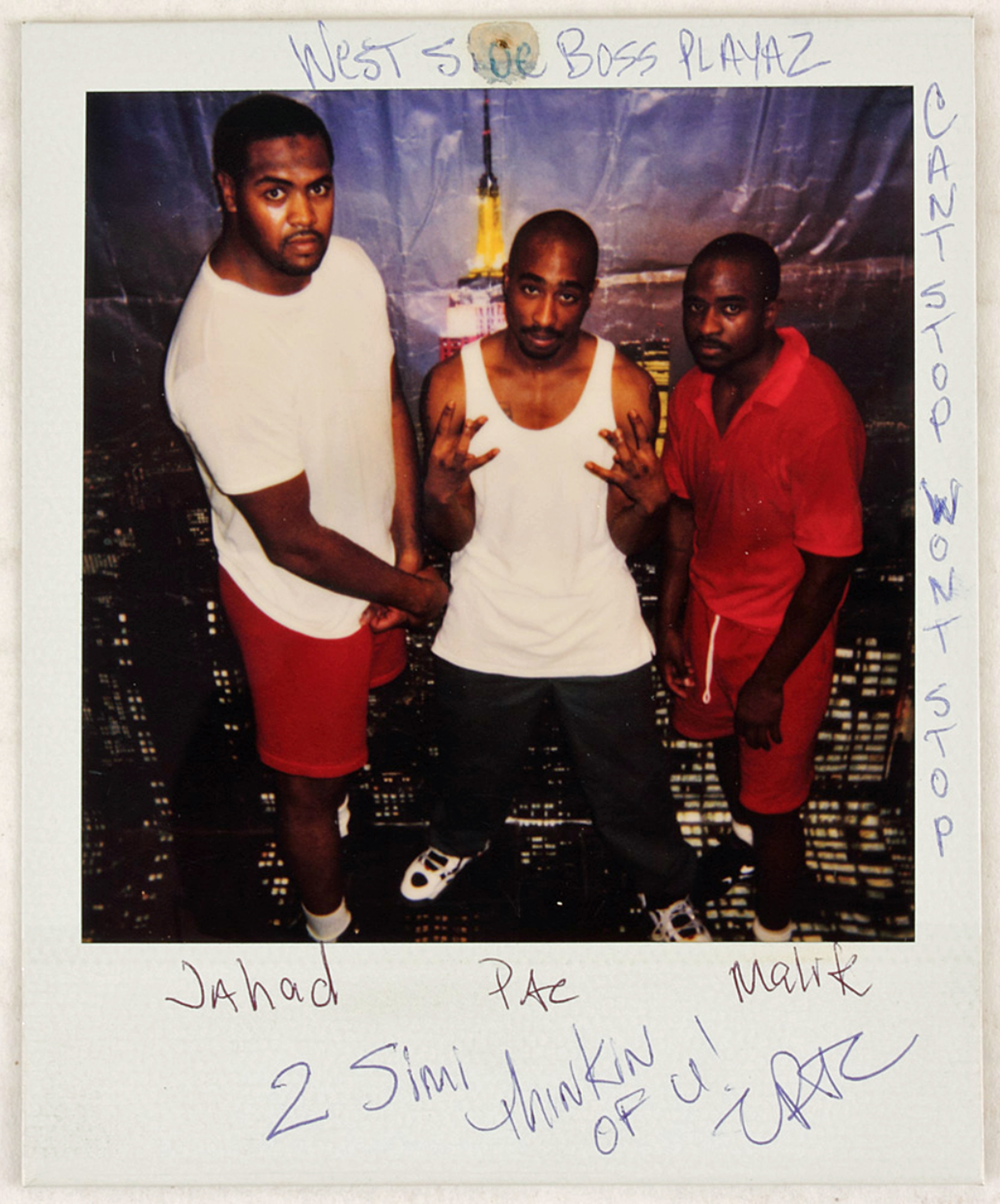 Tupac Shakur auction with  Gotta Have Rock and Rol