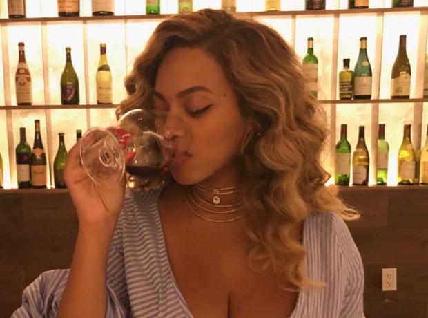 Beyonce drinking