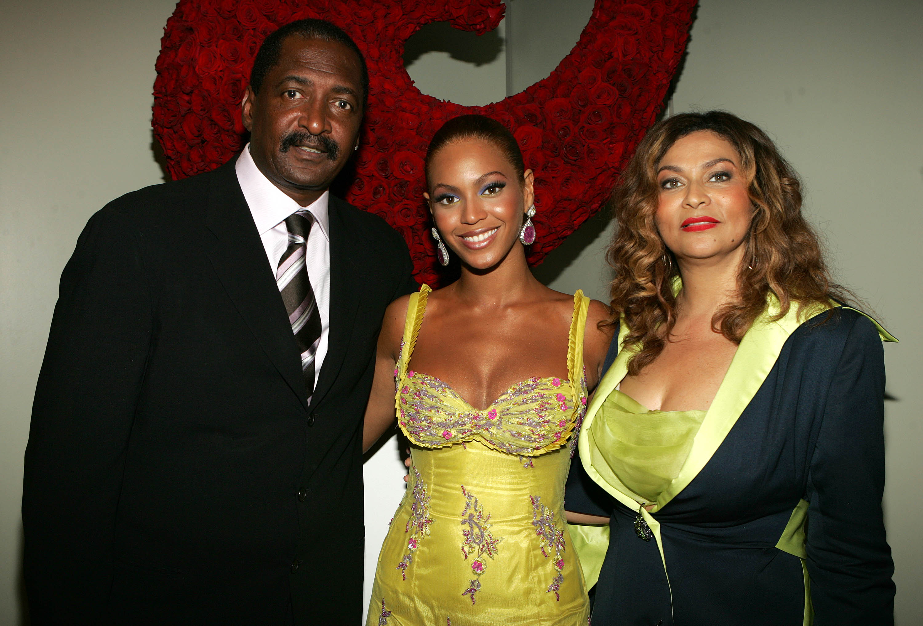 Beyonce, Mathew and Tina Knowles