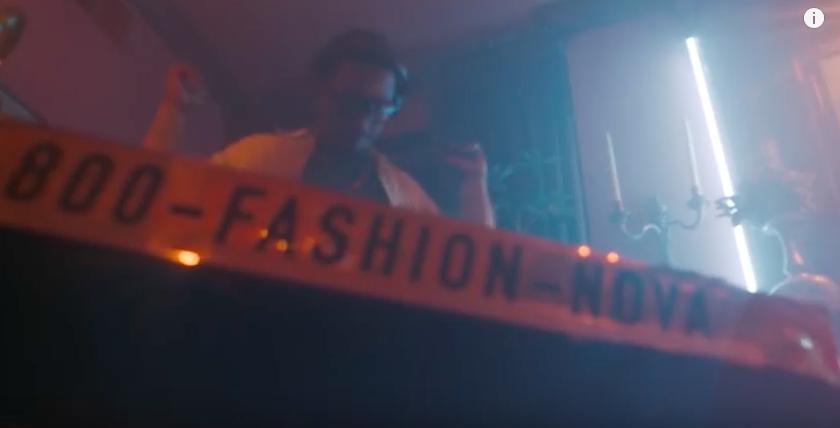 Cardi B Fashion Nova ad in her music video